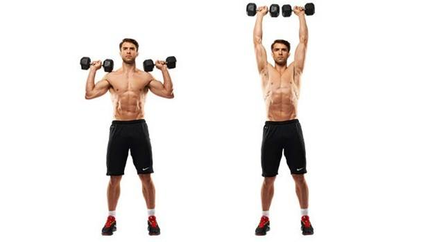 dumbell overhead press