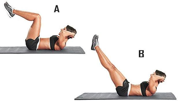 Low-belly Leg Reach - Fat-Burning Ab Exercises