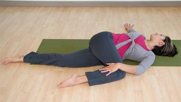 Supine Twist - Fat-Burning Ab Exercises
