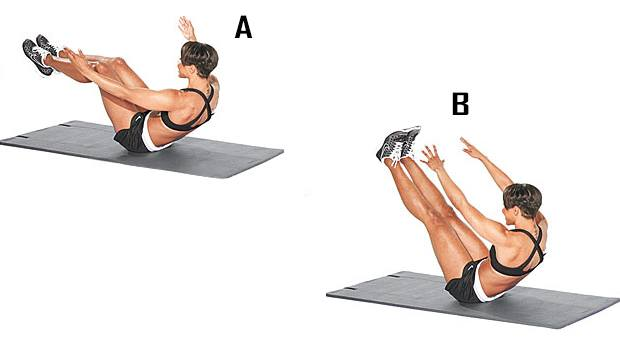 Tone-It V Hold - Fat-Burning Ab Exercises