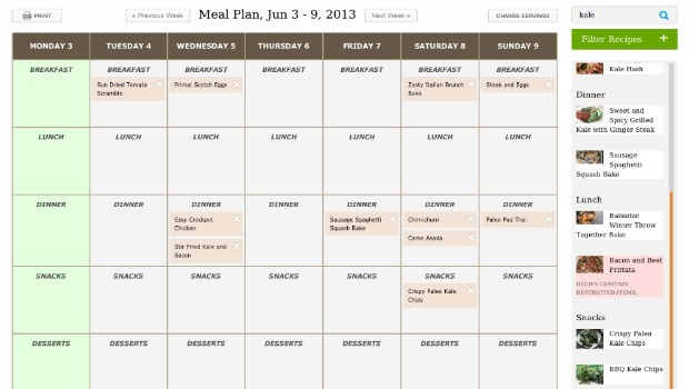 plan your own meals download