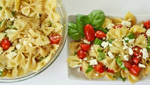 bow ties with tomatoes, feta, and balsamic dressing download