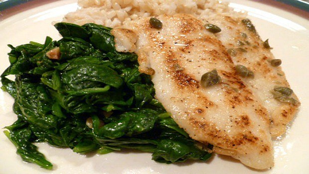 flounder piccata with spinach download