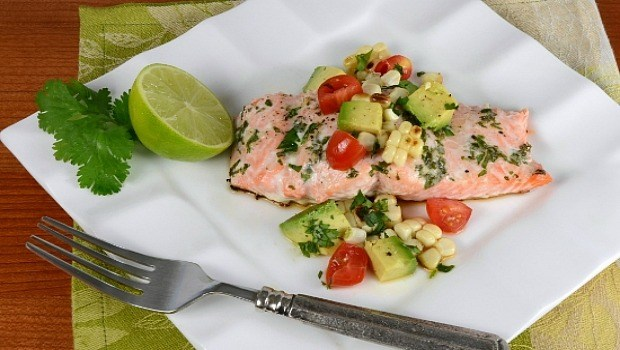 salmon with corn & avocado succotash download