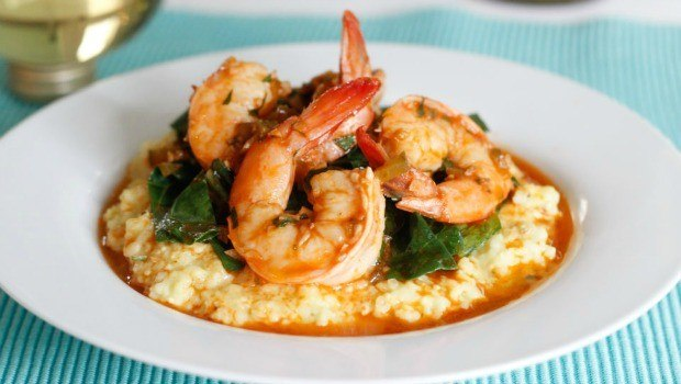 smoky shrimp and parmesan-polenta cakes download