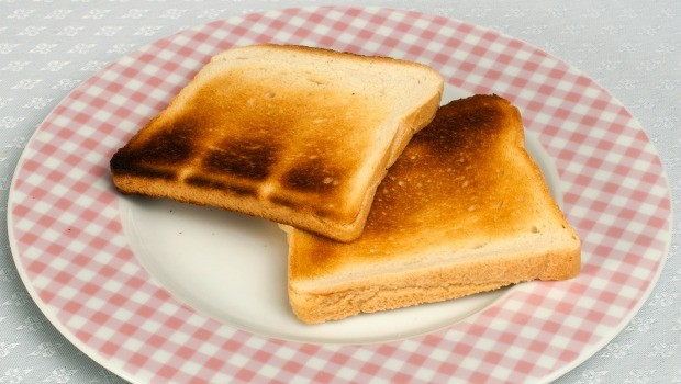 burnt toast can settle an upset stomach