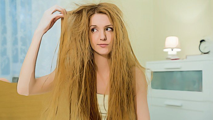natural tips for dry hair are exposed