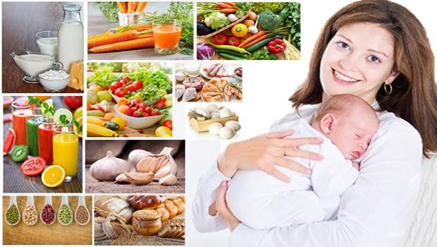 diet for breastfeeding mothers - water