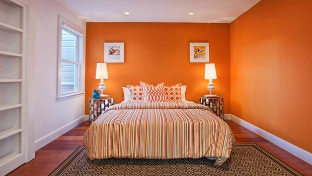 colors for bedroom - orange