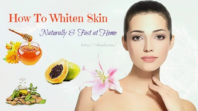how to whiten skin fast