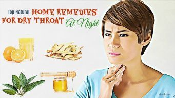 home remedies for dry throat at night