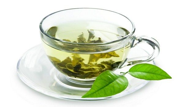 home remedies for red face-green tea