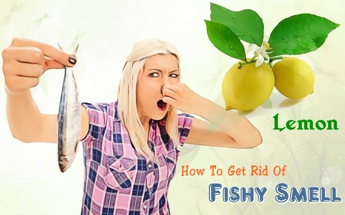 how to get rid of fishy smell - lemon