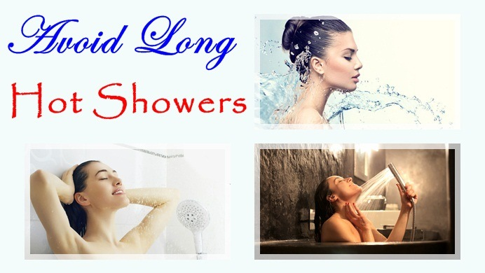avoid long, hot showers
