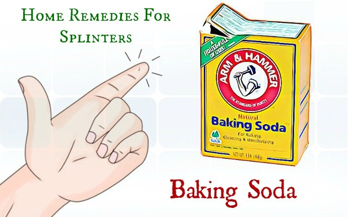 home remedies for splinters - baking soda