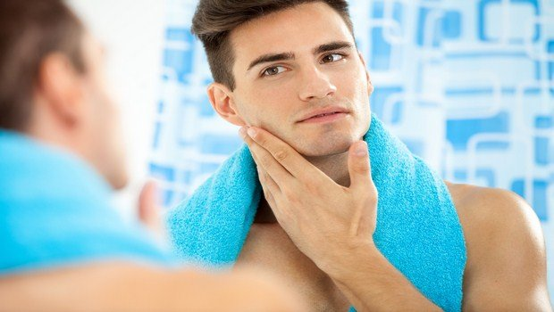 how to prevent razor burn-rinse the face with cold water after finishing