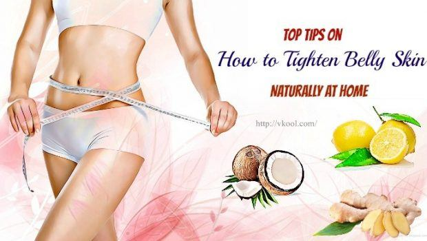 how to tighten belly skin naturally