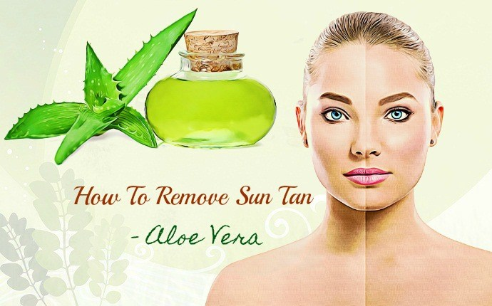 how to remove sun tan - aloe vera
