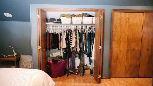 how to declutter your life-tackle the closets
