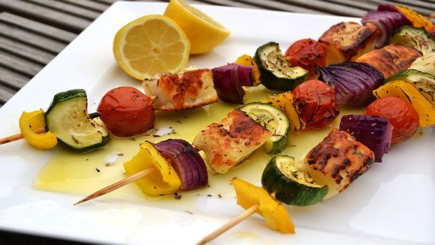 low fat recipes-main course vegetarian kebabs