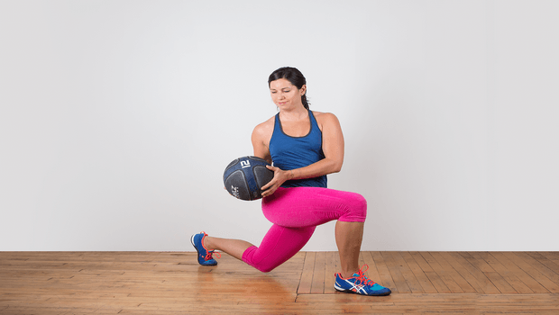 exercises to reduce belly fat-lunge twist