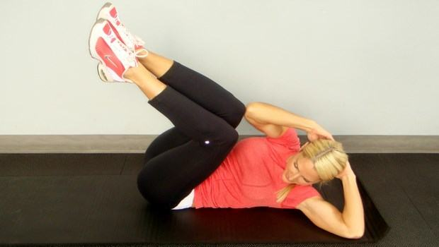 exercises to reduce belly fat-vertical leg crunch