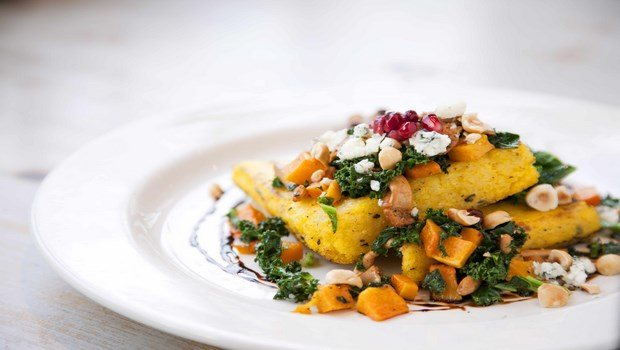healthy dinner ideas for weight loss-beans, cod, and rosemary polenta