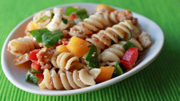 healthy dinner ideas for weight loss-veggie pasta