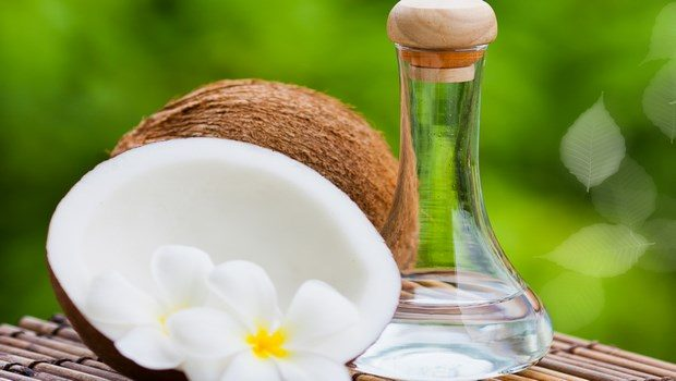 how to get rid of dry flaky scalp-coconut oil