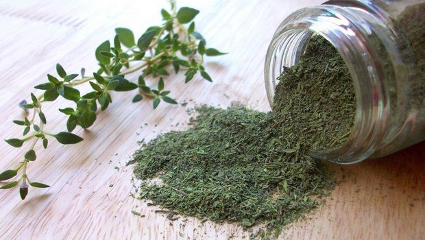 how to get rid of dry flaky scalp-thyme