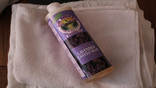 organic skin care-soothing lavender body wash