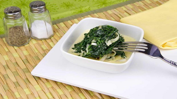 vegetable side dish recipes-creamed spinach
