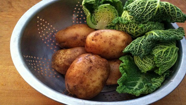 vegetable side dish recipes-potatoes and cabbage