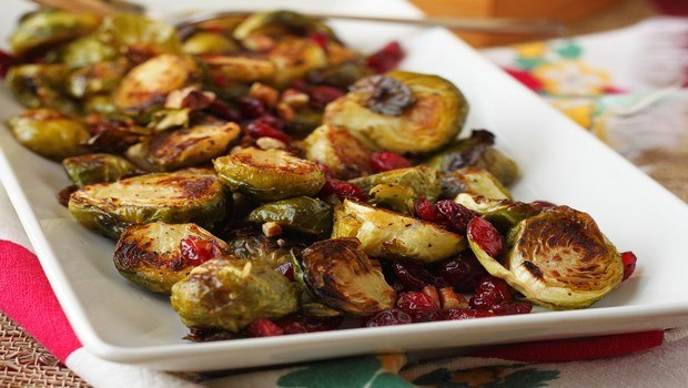 vegetable side dish recipes-roasted brussels sprouts