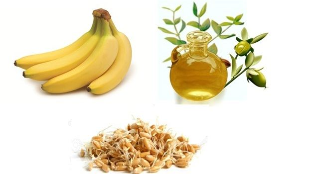 banana face mask - banana, jojoba oil and wheat germ face mask