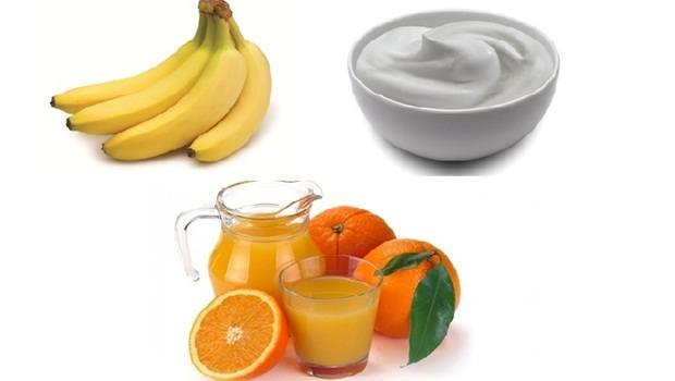banana face mask - banana, yogurt and orange juice face mask