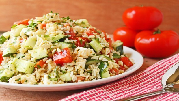 brown rice recipes-brown rice salad