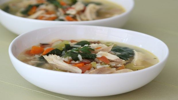 brown rice recipes-chicken brown rice soup
