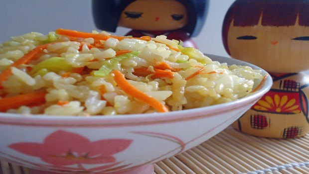 brown rice recipes-japanese fried rice