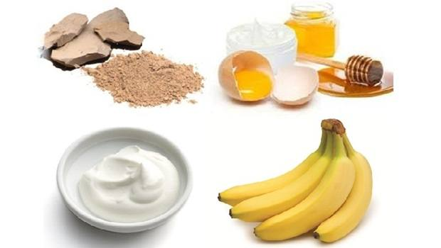 banana face mask - clay, honey, yogurt, egg white banana face mask