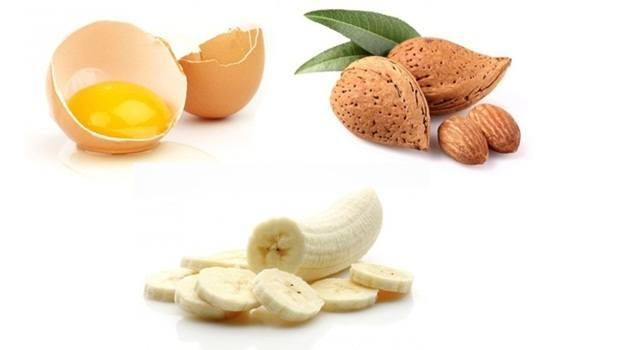banana face mask - egg yolk, almond banana face mask