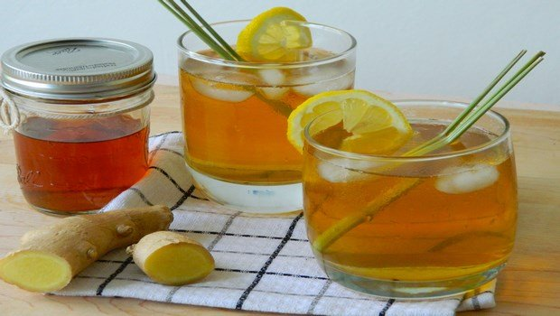 green tea for weight loss-lemon grass and ginger iced tea