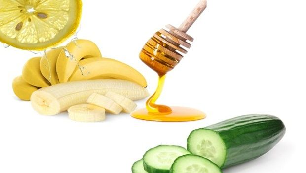 banana face mask - honey, lemon, cucumber banana face mask