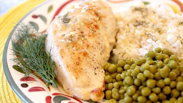 high protein low carb recipes - lemon dill chicken