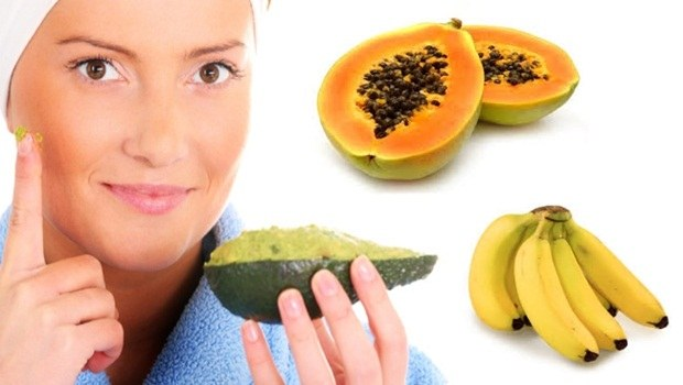 banana face mask - papaya, avocado banana face mask