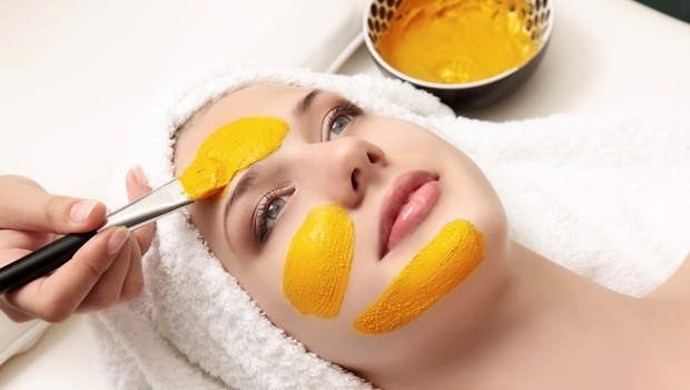turmeric facial mask - turmeric and cream facial mask