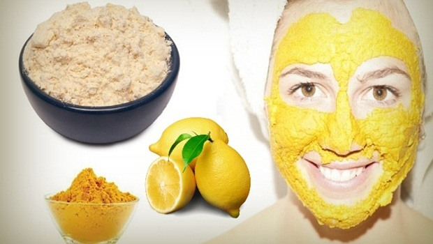 turmeric facial mask - turmeric, lemon juice, and gram flour mask
