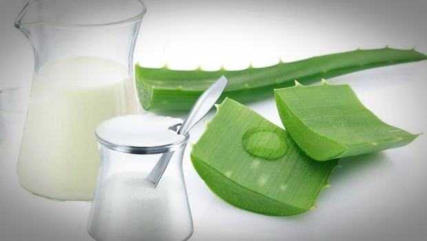 aloe vera face mask - aloe, milk and sugar face mask