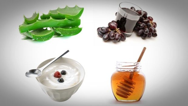 aloe vera face mask - aloe vera, yoghurt, red grape juice and honey face mask