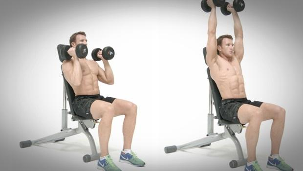 dumbbell exercises for shoulders - alternated shoulder press